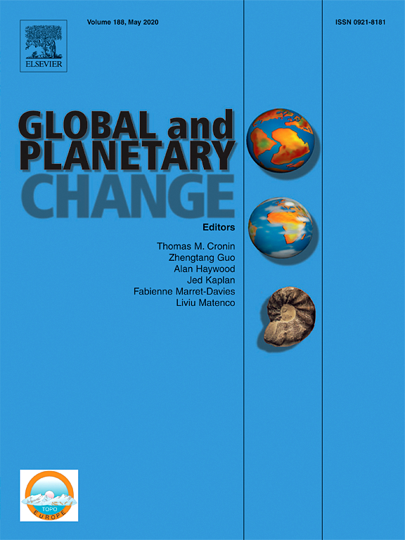 Global and Planetary Change journal cover